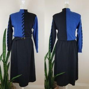 VTG 70's Ciao Ltd. Wool Sweater Dress